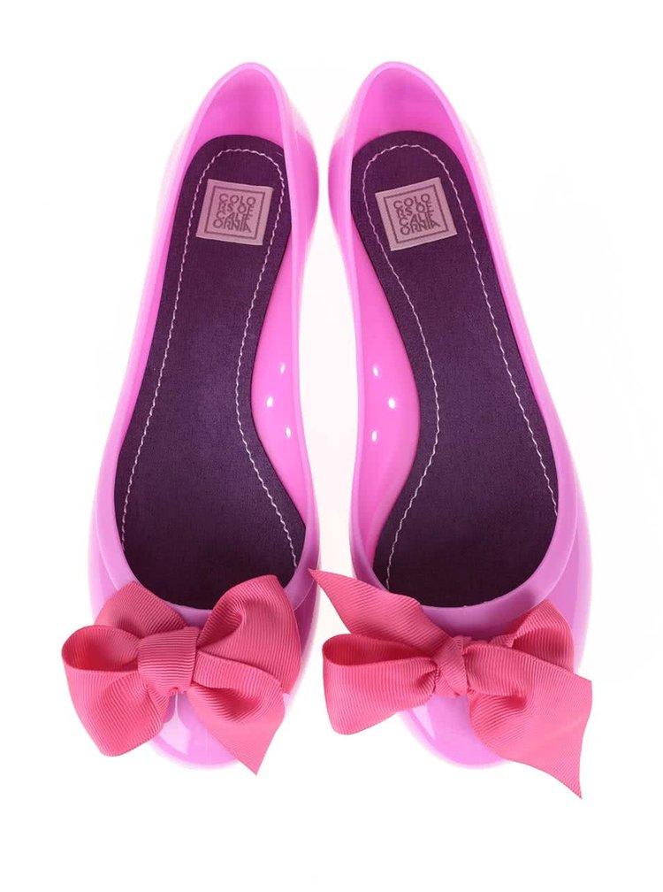Fuchsiové baleríny s ružovou mašľou Colours of California