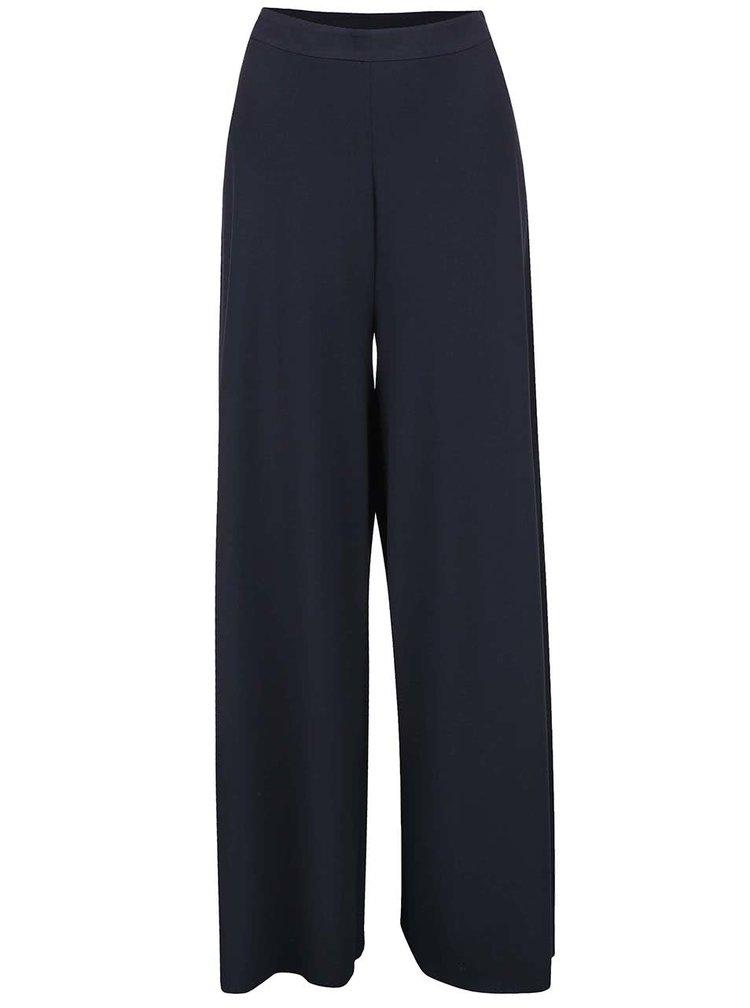 Tmavě modré volné kalhoty s vyšším pasem Broadway Dolly