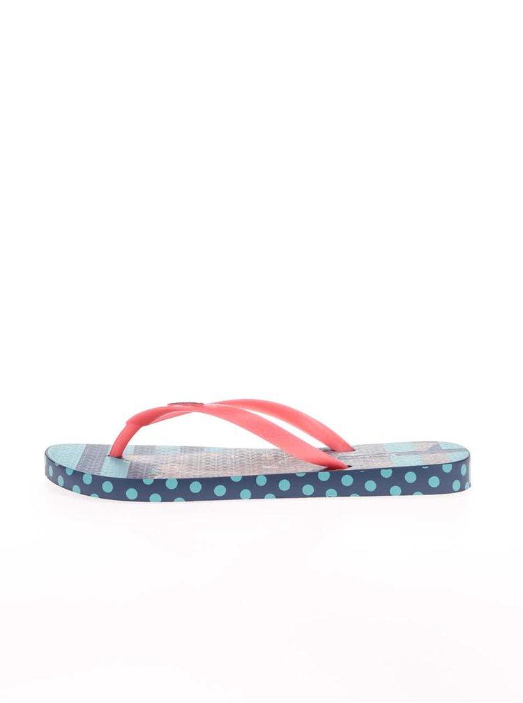 Modré žabky s neonovou páskou Ipanema Unique