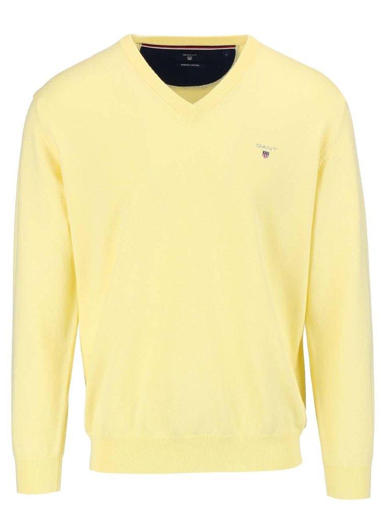 Svetložltý pánsky sveter GANT