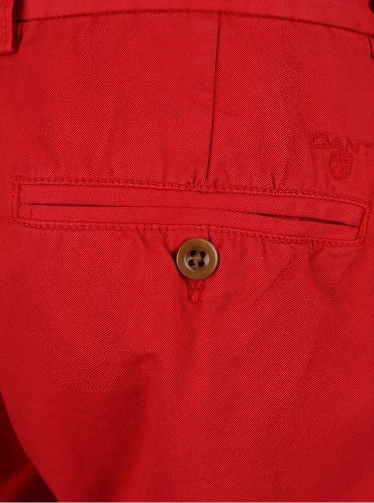 Červené pánské chino kalhoty GANT