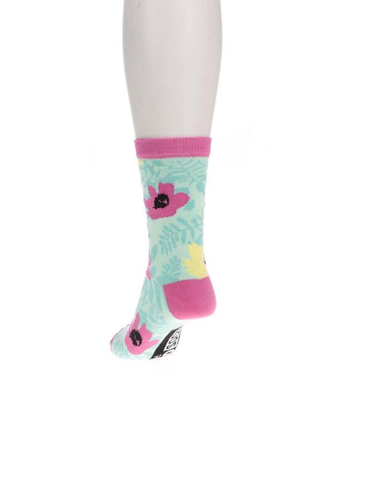 Súprava šiestich dámskych ponožiek v modrej farbe Oddsocks Tropicool