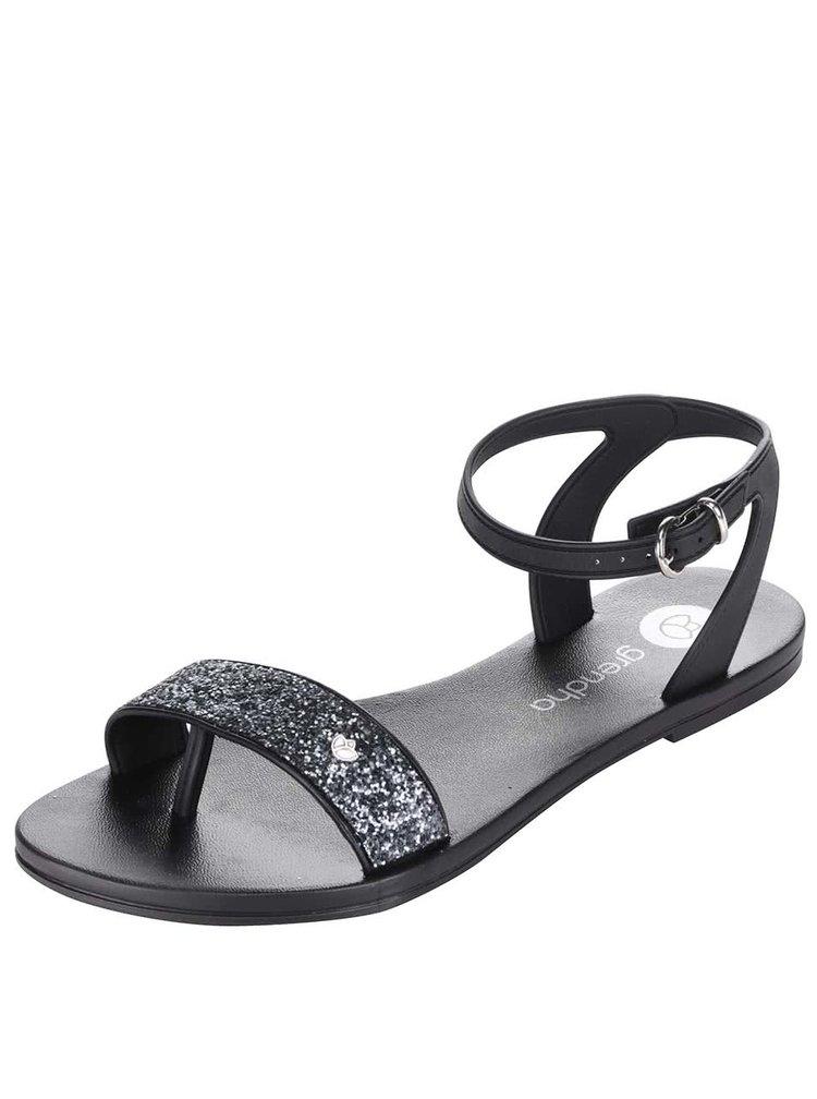 Čierne sandálky so zdobením Grendha Paradiso II Sandal Fem