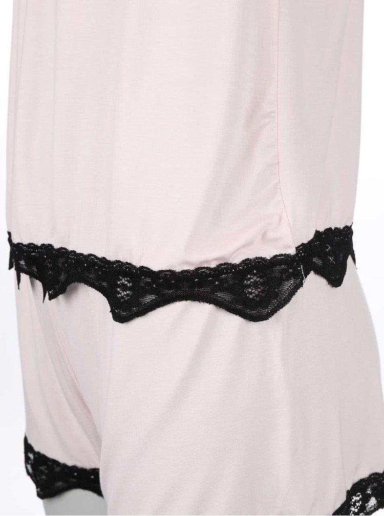 Růžové pyžamo s krajkou ICÔNE Sienna