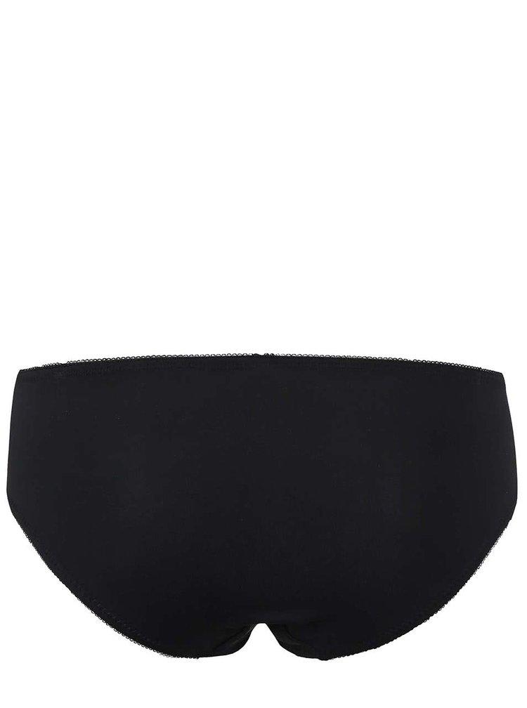 Černé kalhotky s krajkou ICÔNE Hortensia