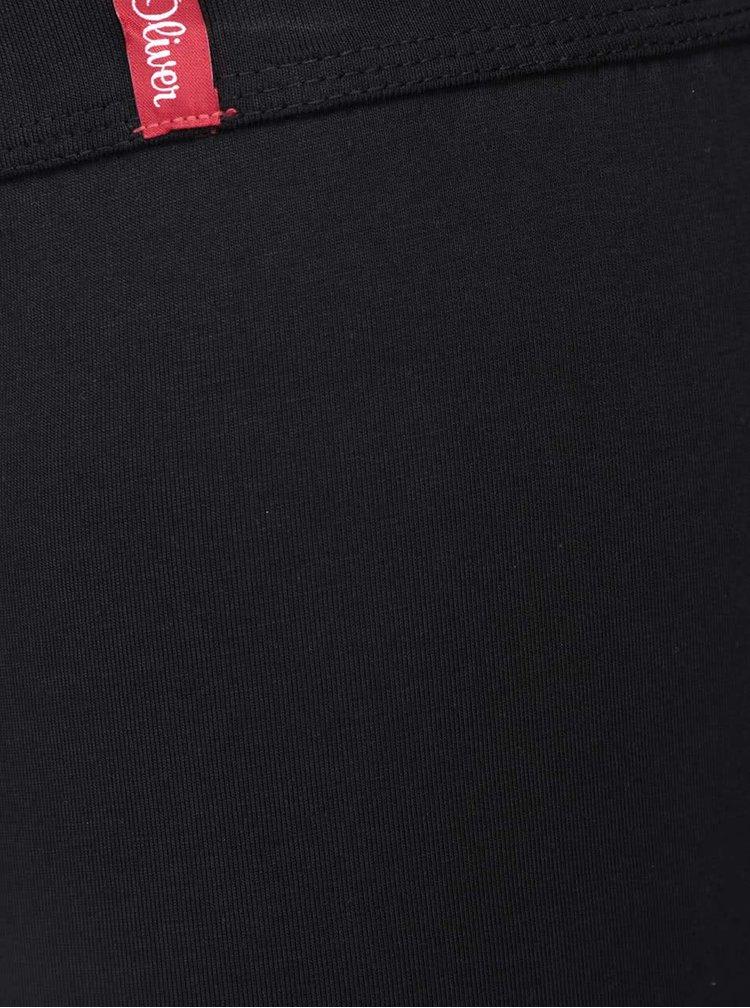 Sada dvou kratších boxerek v černé a šedé barvě s.Oliver
