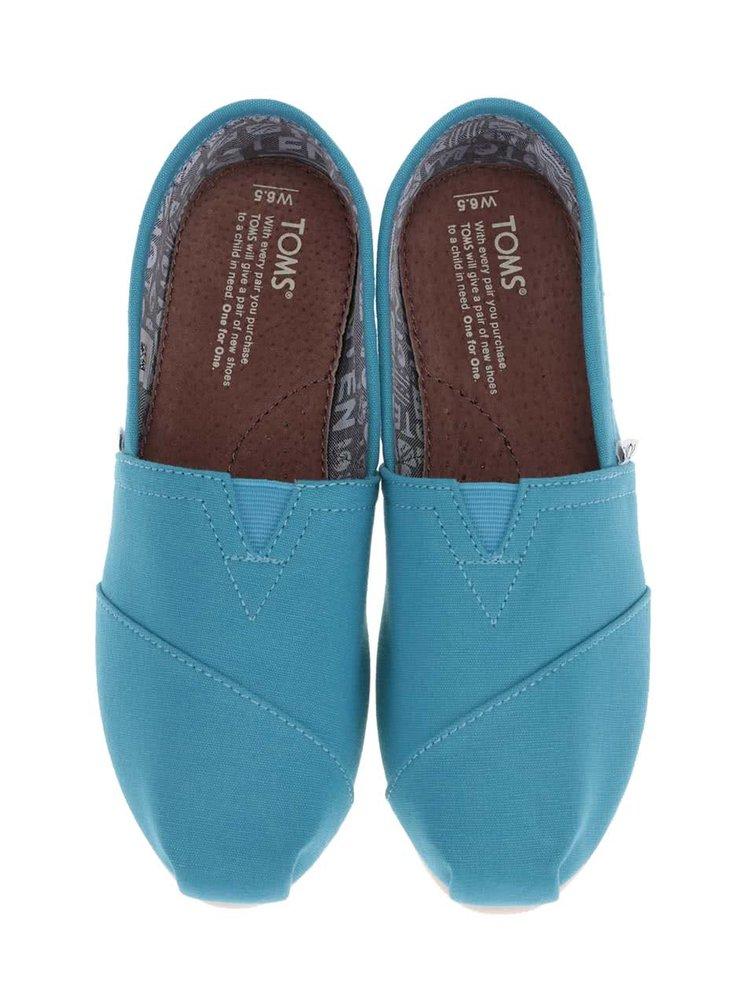 Světle modré dámské loafers TOMS Classic