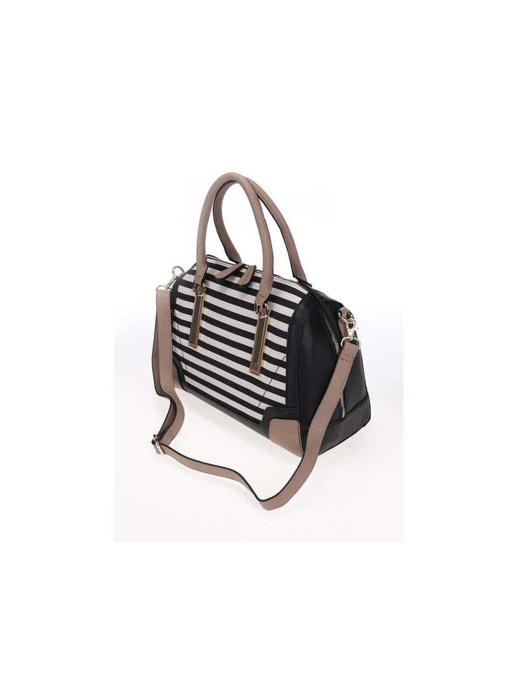 Černo-krémová pruhovaná kabelka ALDO Bogard