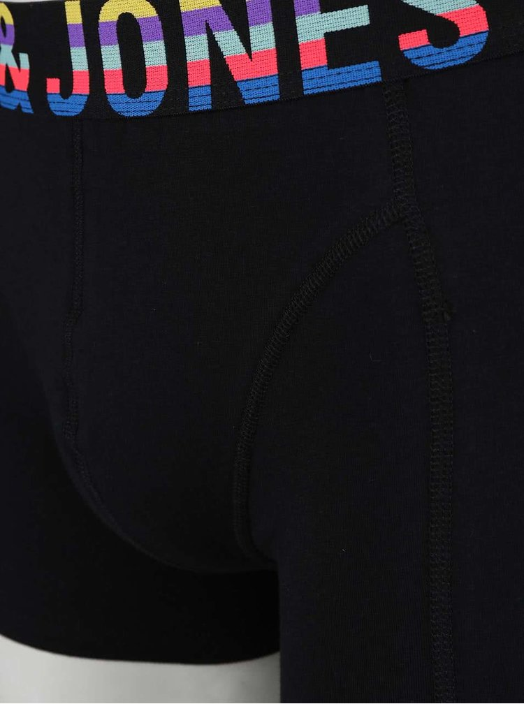 Súprava troch modro-čiernych boxeriek Jack & Jones Mix