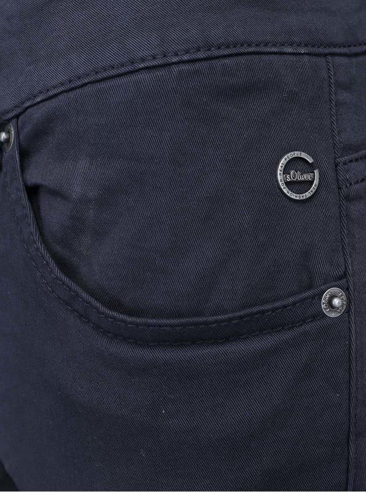 Pantaloni slim fit s.Oliver albaştri