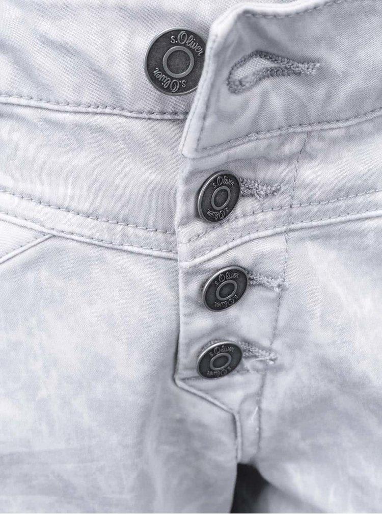 Šedé dámské retro kalhoty s.Oliver
