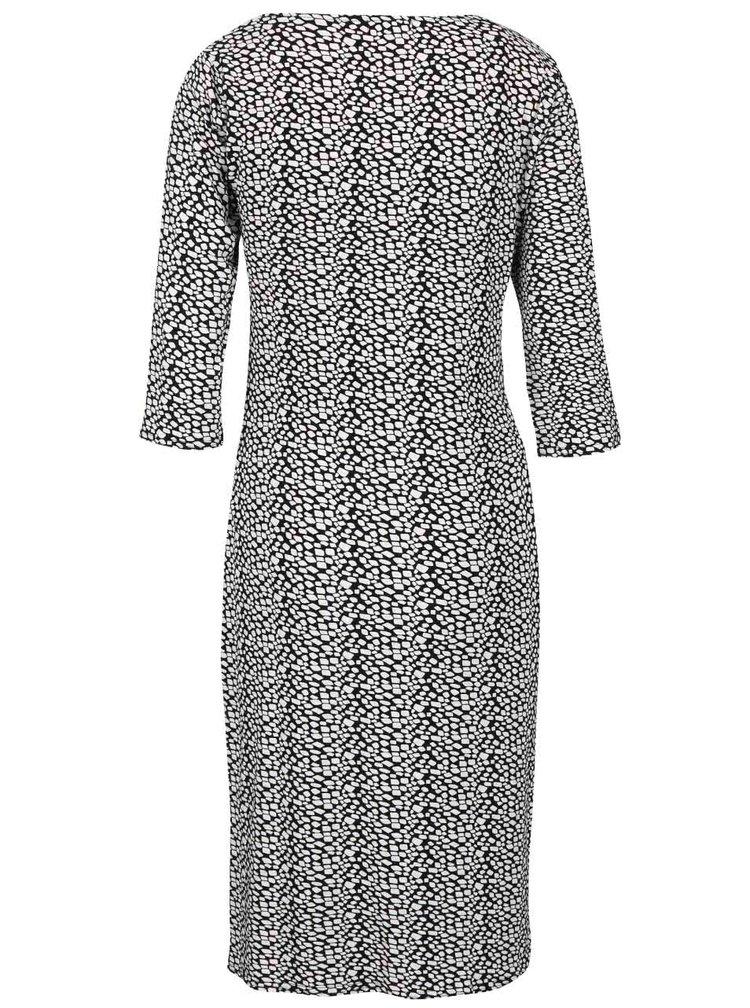 Černo-bílé vzorované šaty se zavazováním Smashed Lemon