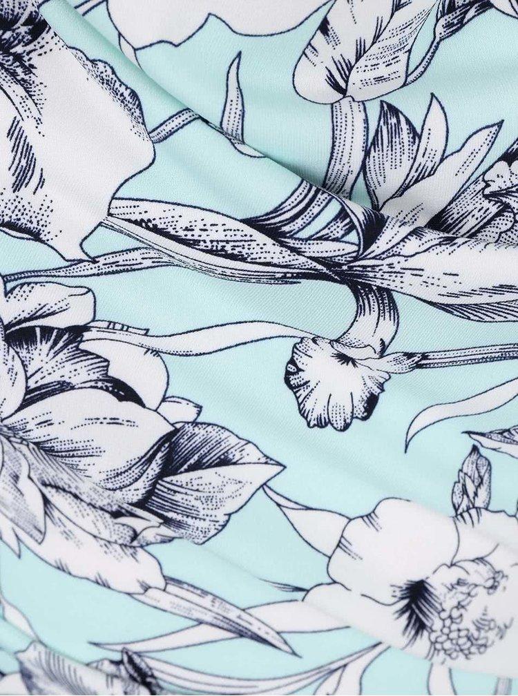 Mentolová halenka s květinovým vzorem Smashed Lemon