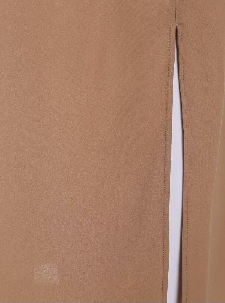 Šaty ve velbloudí hnědé barvě s kapsami Dorothy Perkins