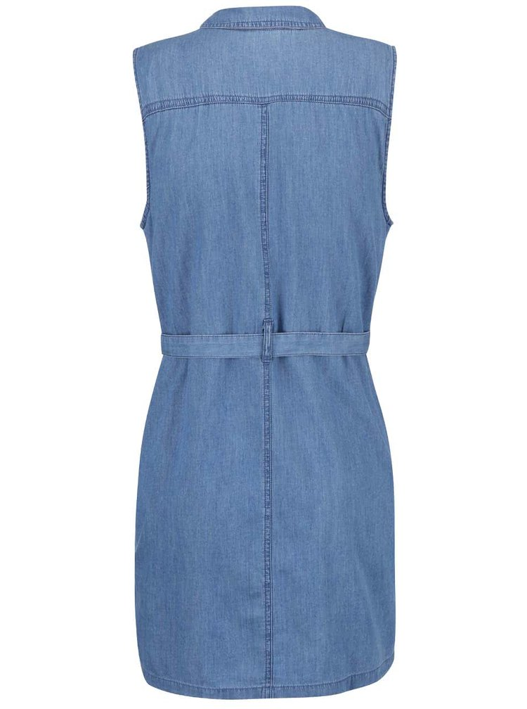 Modré rifľové šaty Dorothy Perkins Petite