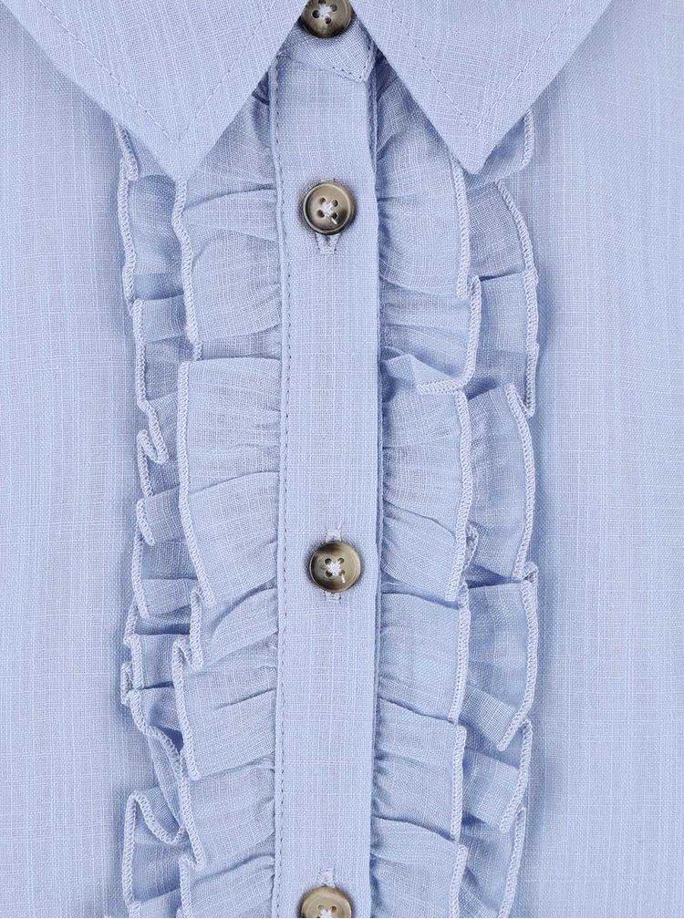 Modrá halenka bez rukávů Dorothy Perkins