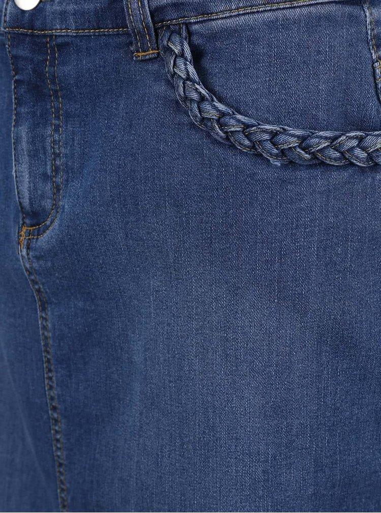 Modrá rifľová midisukňa Dorothy Perkins