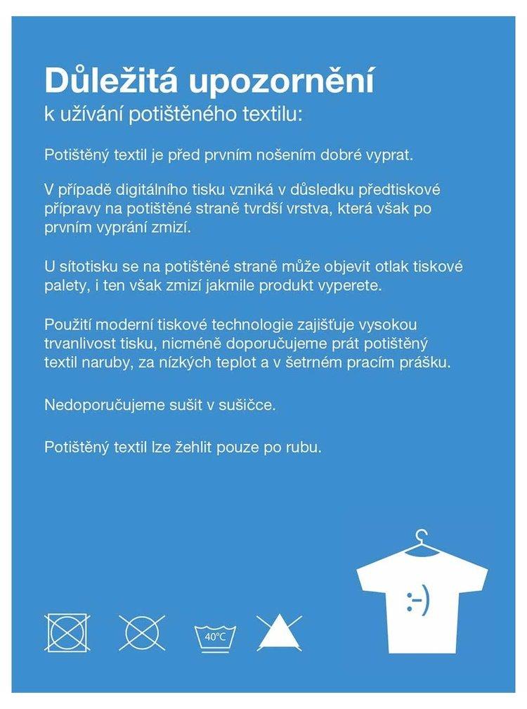 Tricou alb cu dungi și print ZOOT Original Pirátka