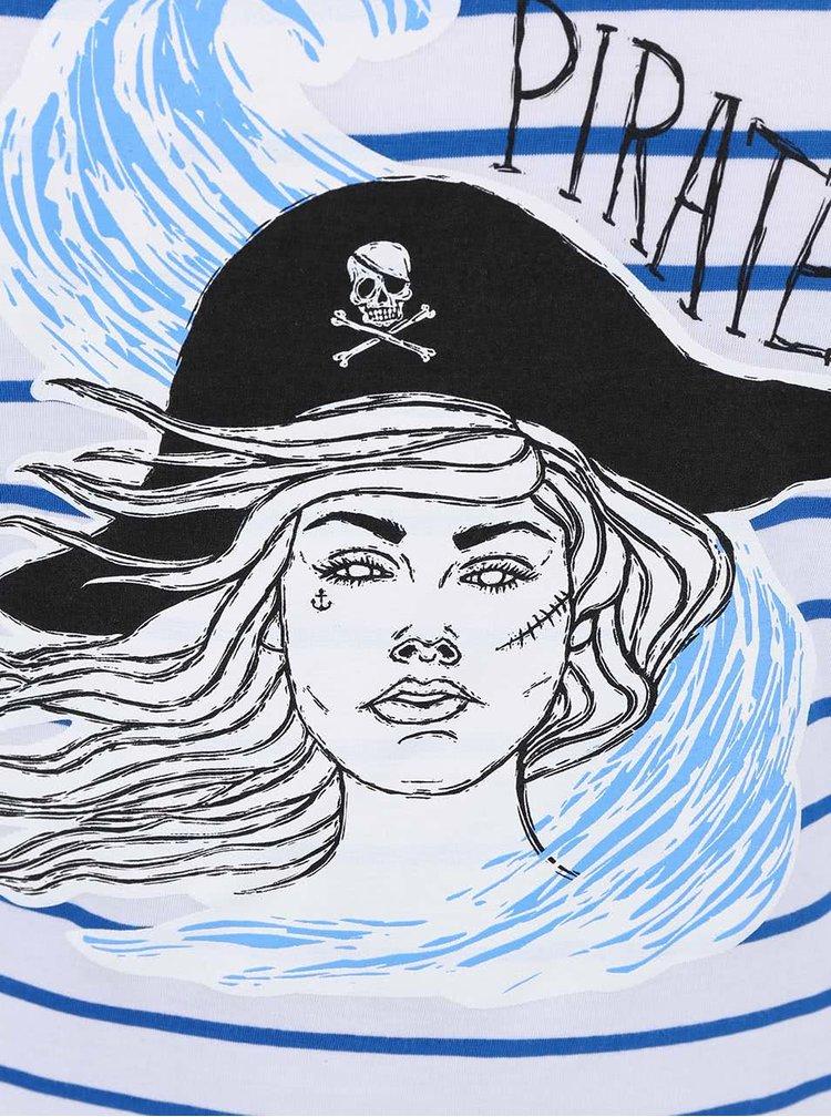 Modro-bílé dámské pruhované tričko ZOOT Originál Pirátka