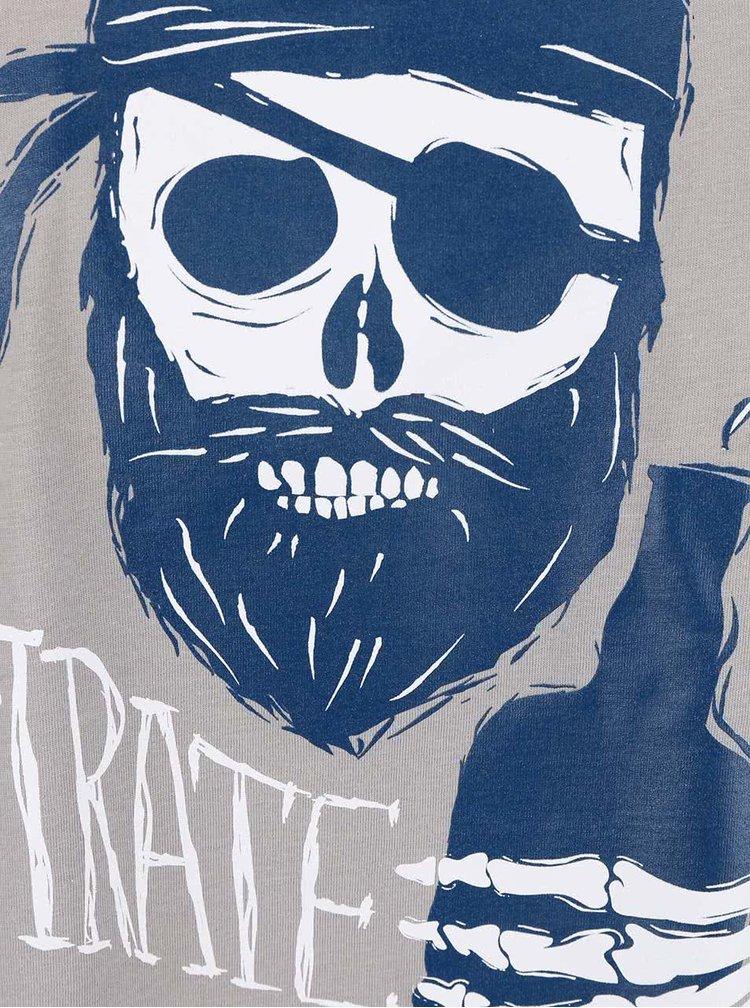 Šedé pánské triko ZOOT Originál Pirát