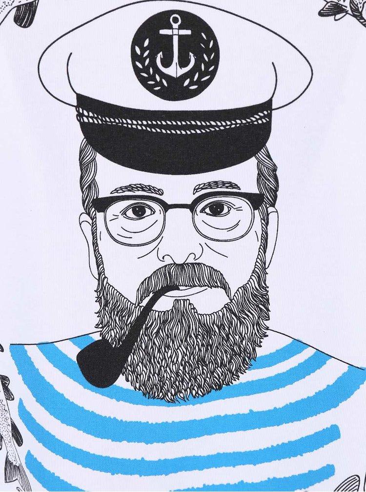 Tricou barbatesc cu print  ZOOT Original Sailor alb