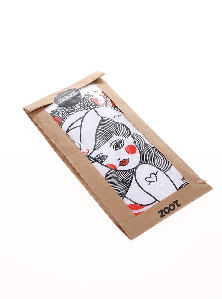 Tricou de damă ZOOT Original Pin Up alb
