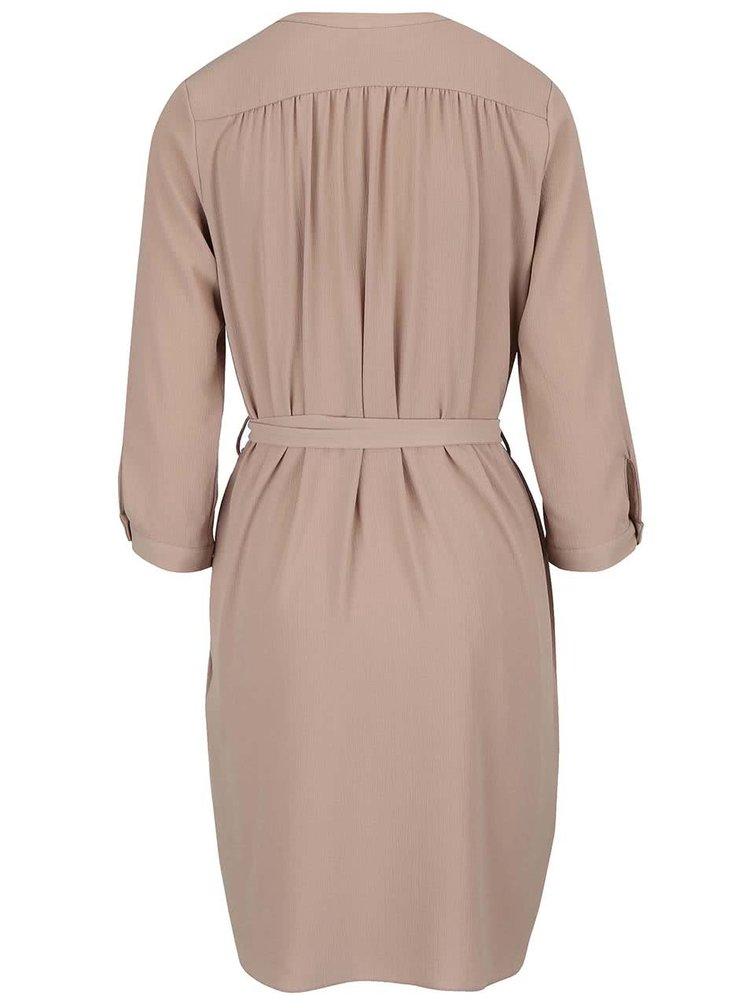 Béžové šaty s páskem Apricot