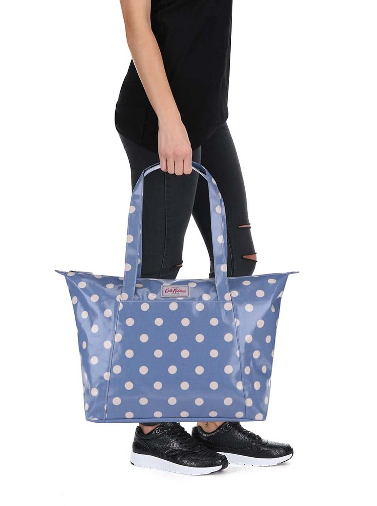 Modrý shopper s bodkami Cath Kidston