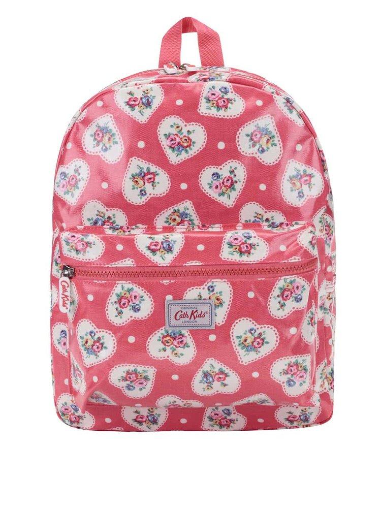 Červený detský batoh so srdiečkami Cath Kidston