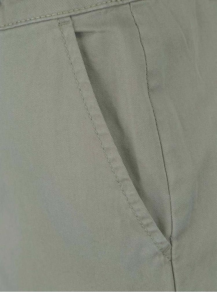 Kaki chino nohavice s opaskom Dorothy Perkins