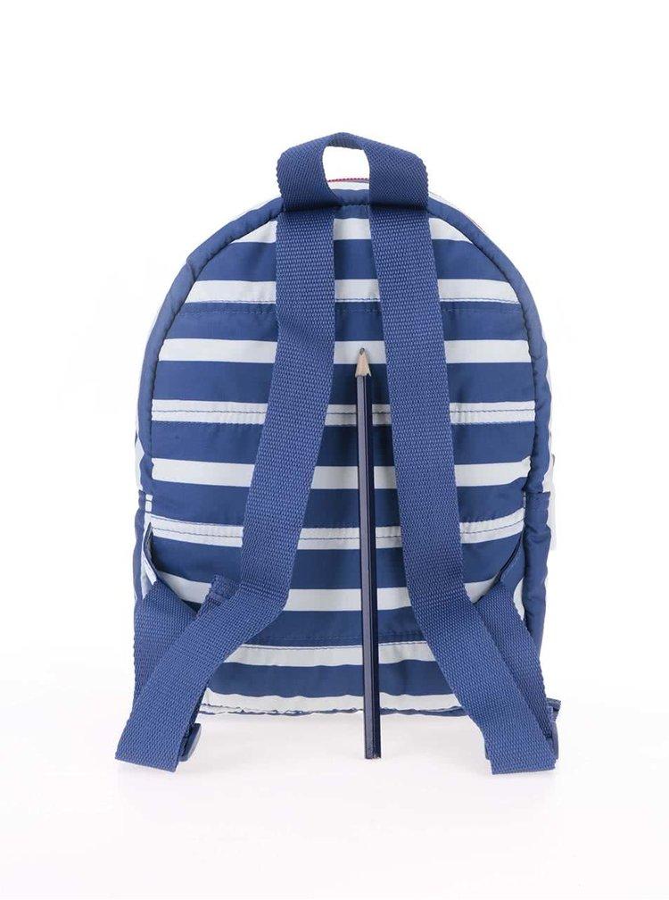 Bílo-modrý dětský mini batoh s pruhy Cath Kidston