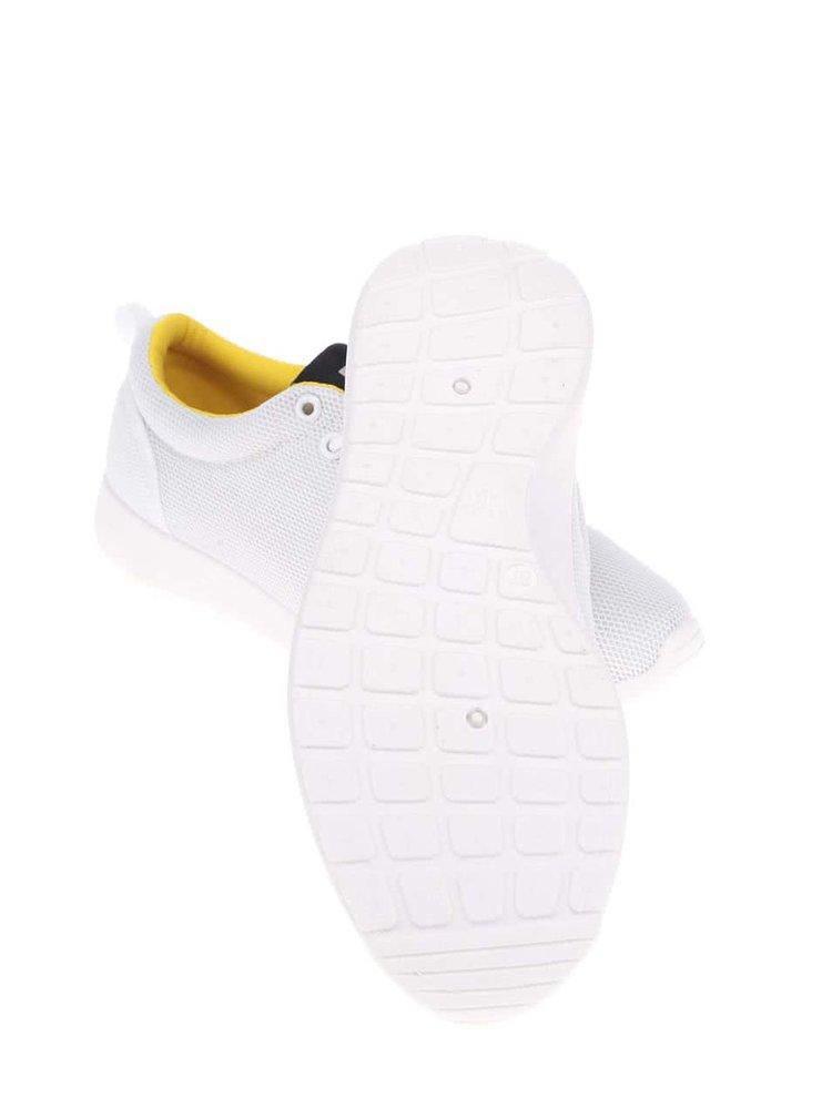 Biele dámske tenisky s penovou platformou Bassed