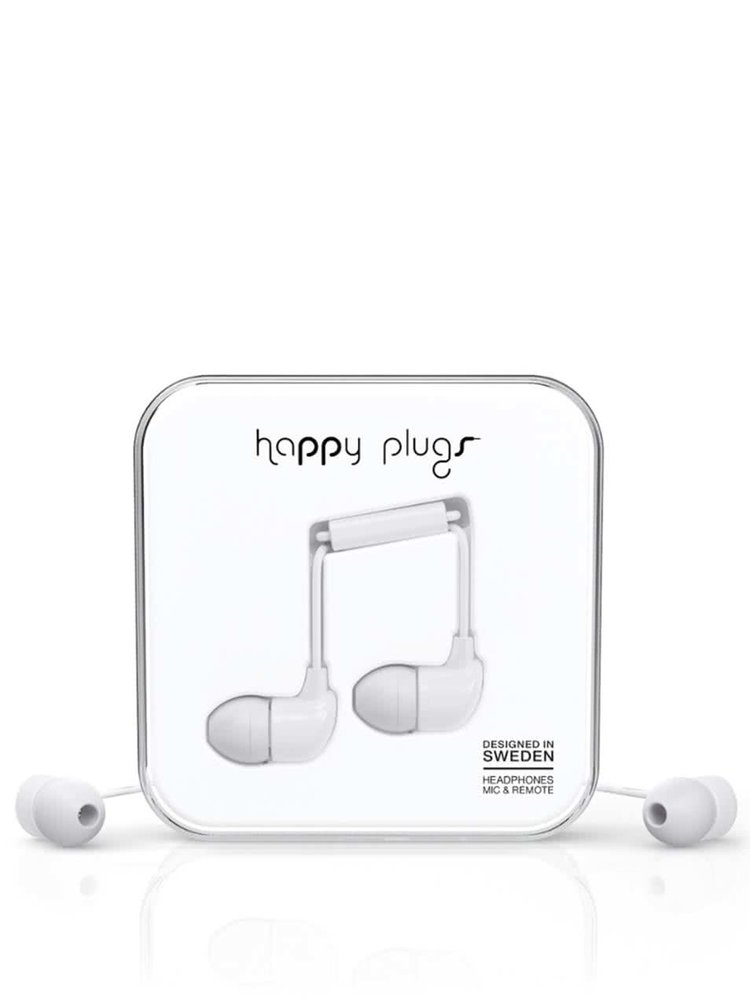 Casti In-Ear Happy Plugs albe