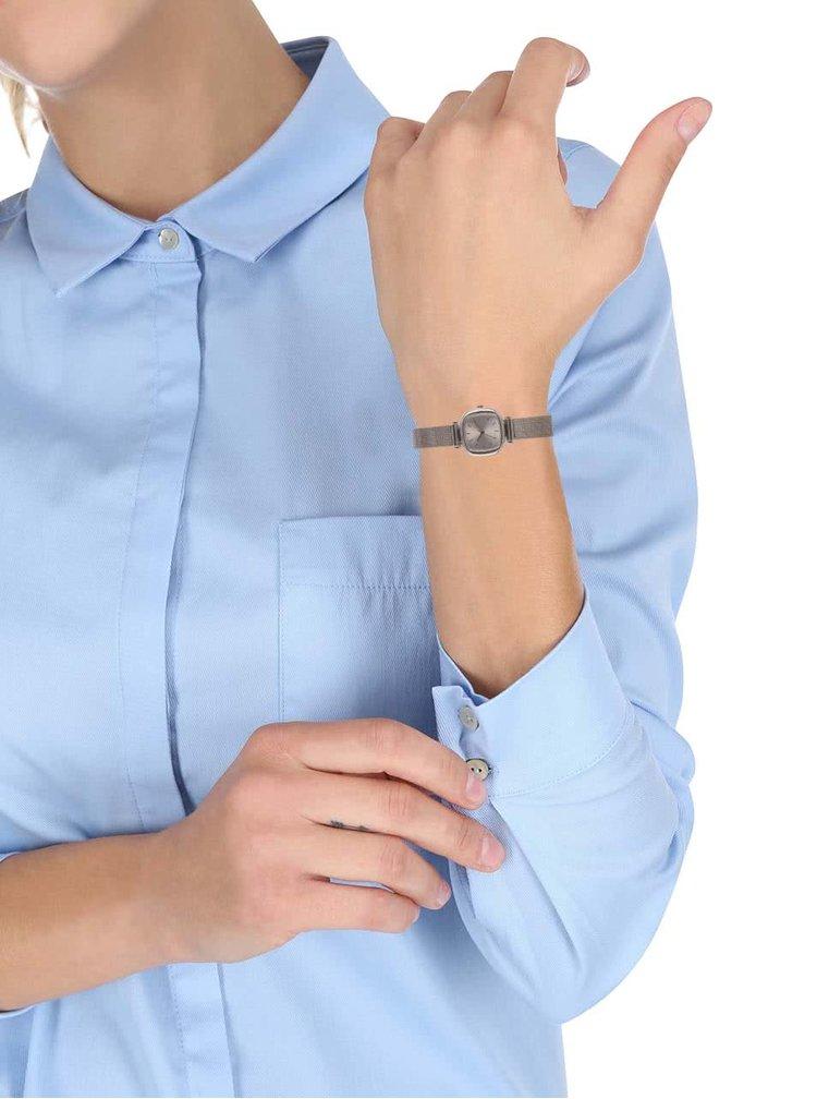 Ceas de dama cu curea argintie din otel inoxidabil Komono Moneypenny Royale Silver