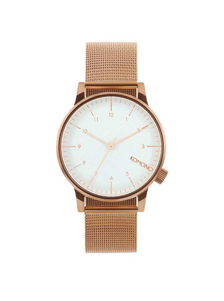 Unisex hodinky v měděné barvě s nerezovým páskem Komono Winston Royale