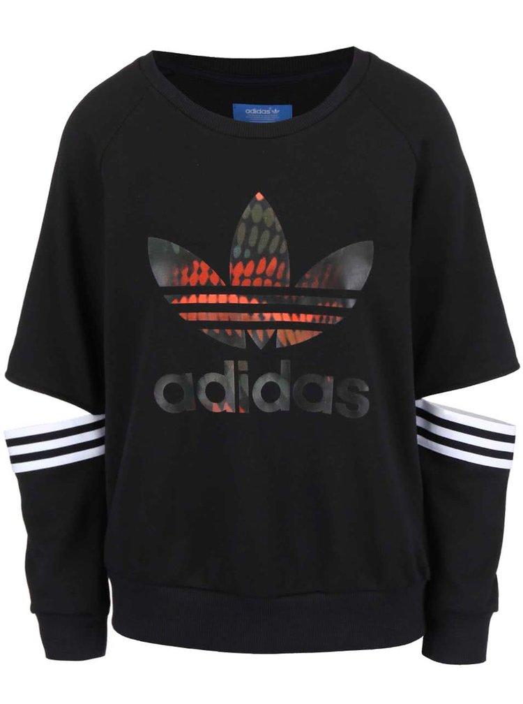 Černá dámská mikina s vykrojenými lokty adidas Originals