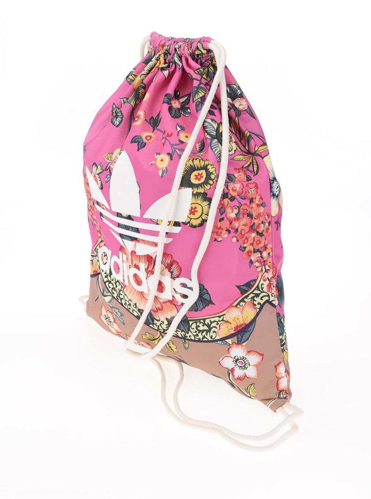 Ružový kvetinový vak adidas Originals Jardineto
