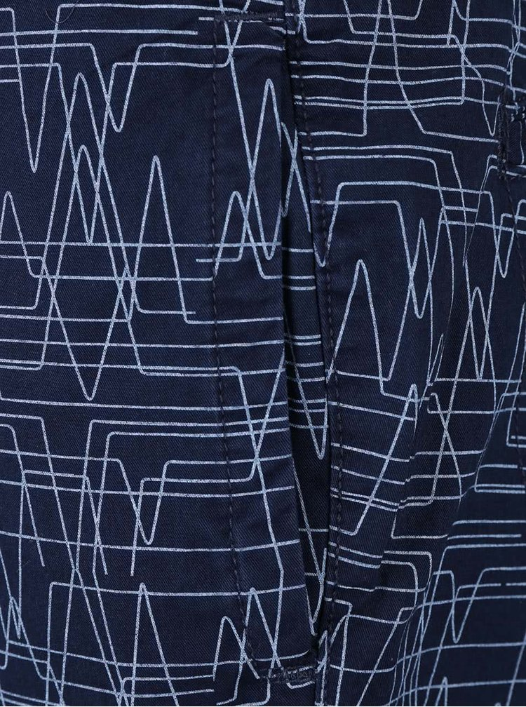 Pantaloni scurti Bellfield Hesett albastru inchis cu model