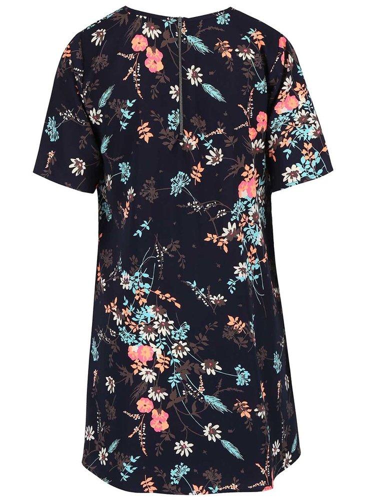 Tmavě modré šaty s květovaným vzorem Apricot