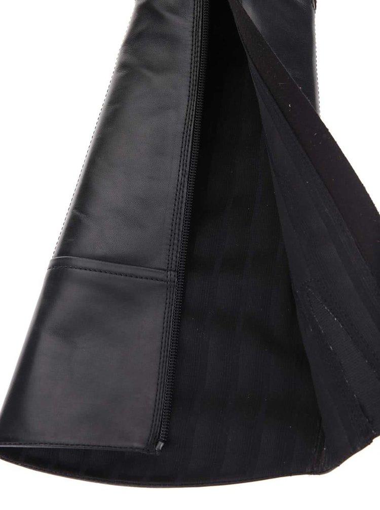 Černé kožené kozačky Vagabond Cary