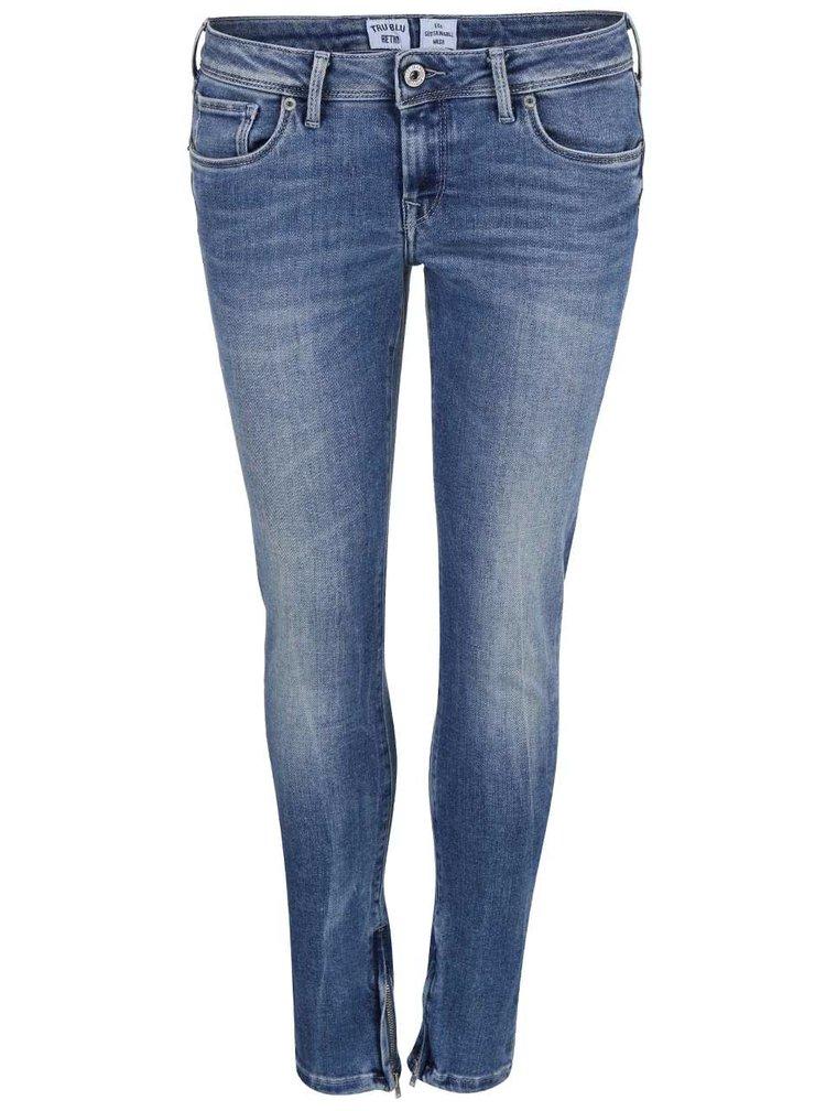 Modré dámské slim fit džíny Pepe Jeans Cher