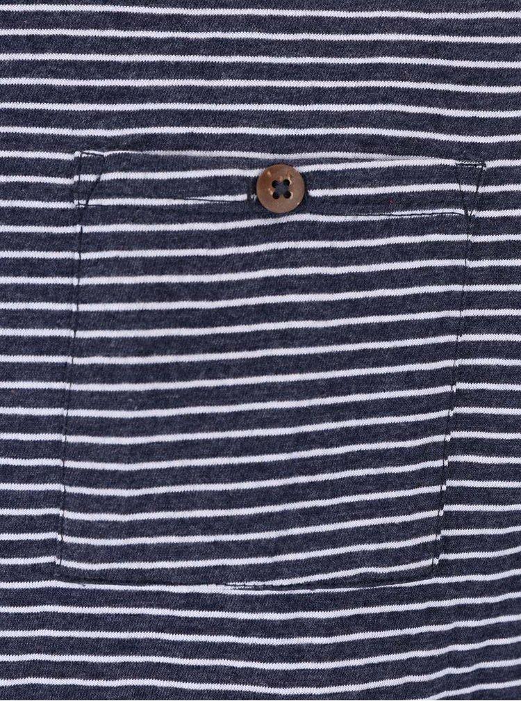 Šedomodré pruhované triko Bellfield Loco