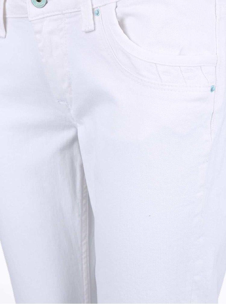 Blugi albi slim fit Pepe Jeans Ripple