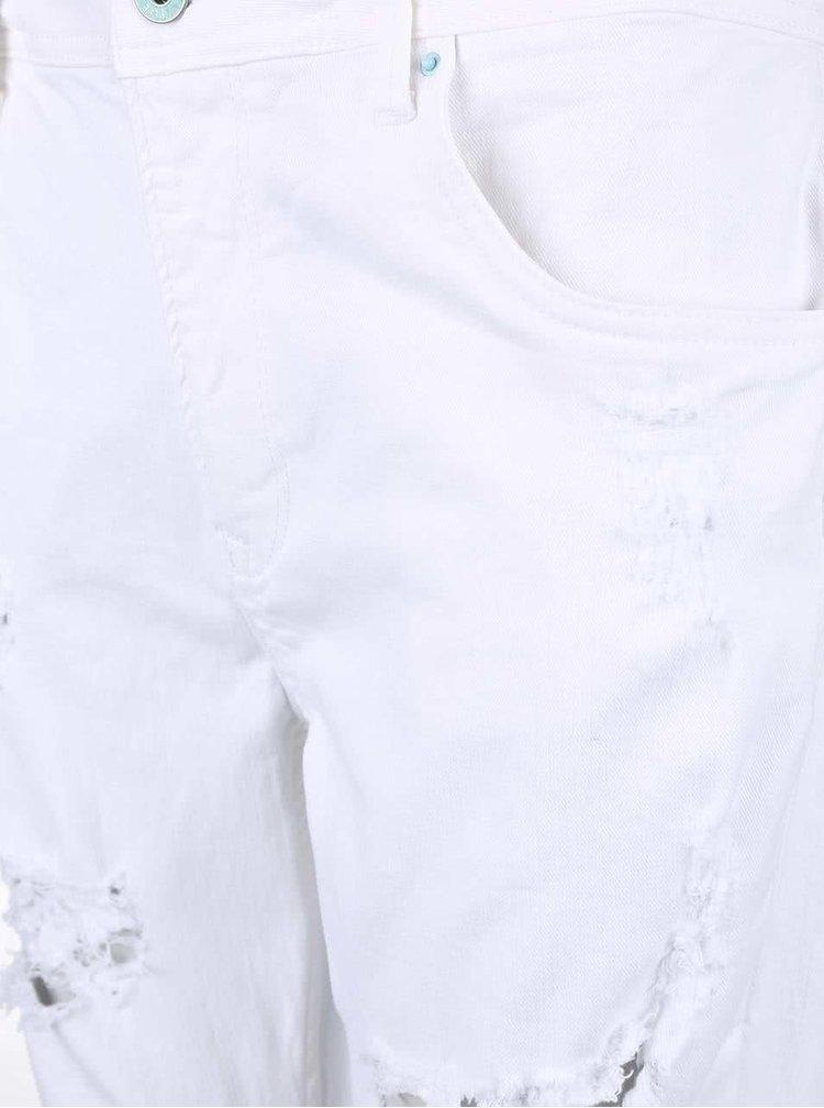 Bílé dámské džíny s roztrhaným efektem Pepe Jeans Vagabond
