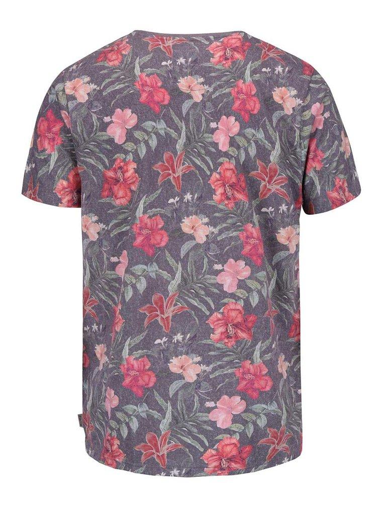 Sivé tričko s kvetinovou potlačou Bellfield Belgate