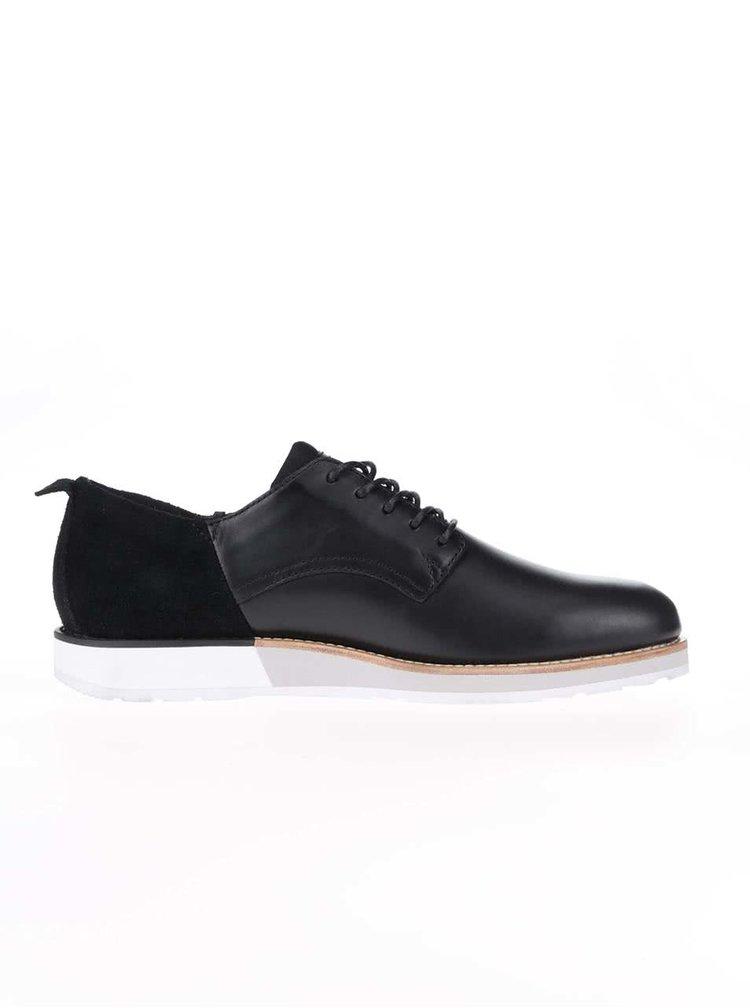 Pantofi din piele Boxfresh Hortik negri