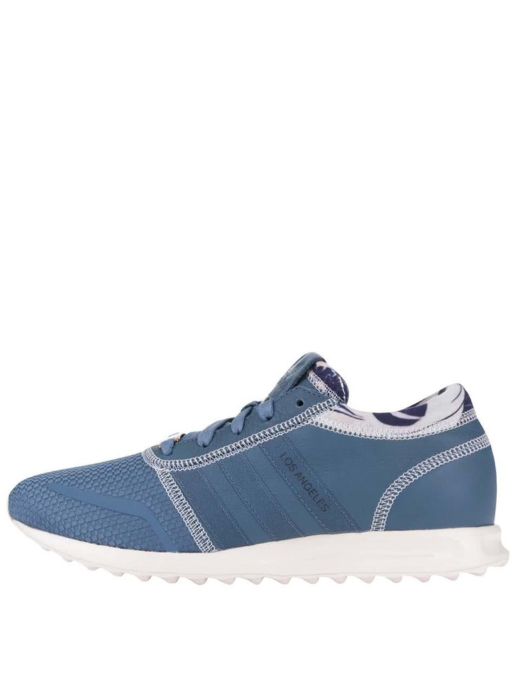 Modré pánské kožené tenisky adidas Originals Los Angeles