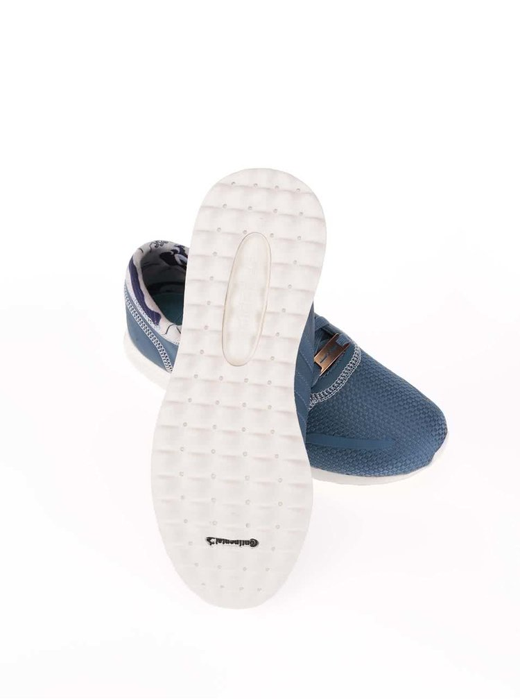 Modré pánske kožené tenisky adidas Originals Los Angeles