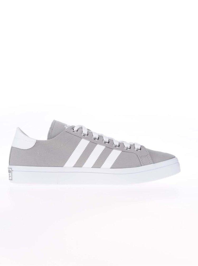 Sivé pánske plátenné tenisky adidas Originals Court Vantage