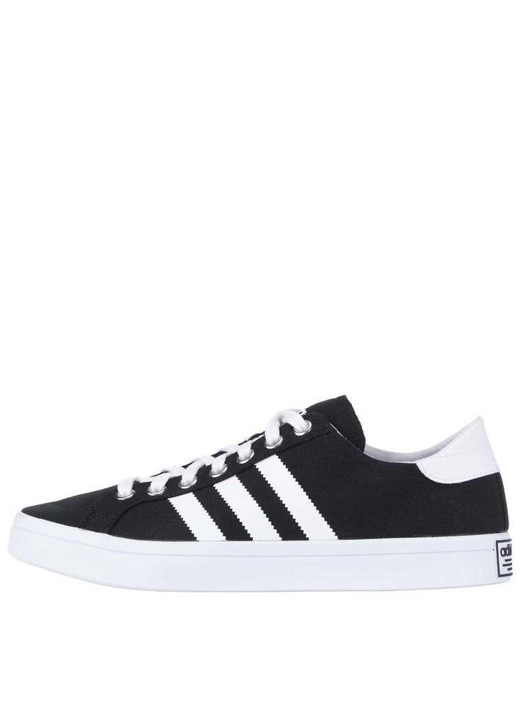Černé pánské plátěné tenisky adidas Originals Court Vantage